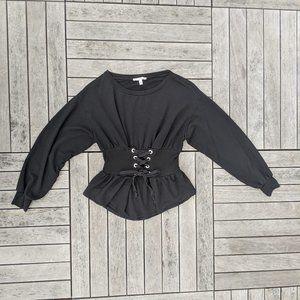 Express One Eleven   Corset Sweatshirt